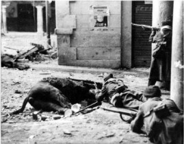 Soldados nacionales en Teruel.