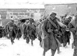 Brigadistas internacionales llegando a Teruel.