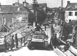 Francia 1940 Panzer I en pleno avance