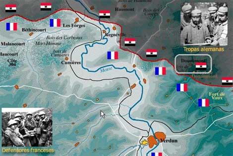 Batalla De Verdun Mapa.La Batalla De Verdun 1916 Historia Belica