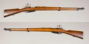 Fusil Mauser M1891. Fue el primer fusil mauser que usó el ejército español.