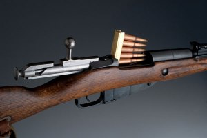 Peine de 5 cartuchos del fusil Mosin Nagant