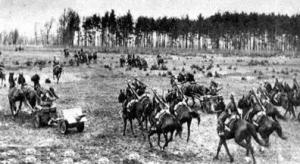 Carga de caballería polaca en 1939.