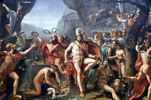 300px-Léonidas_aux_Thermopyles_(Jacques-Louis_David)