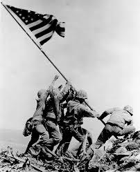 Famosa foto del alzamiento de la bandera