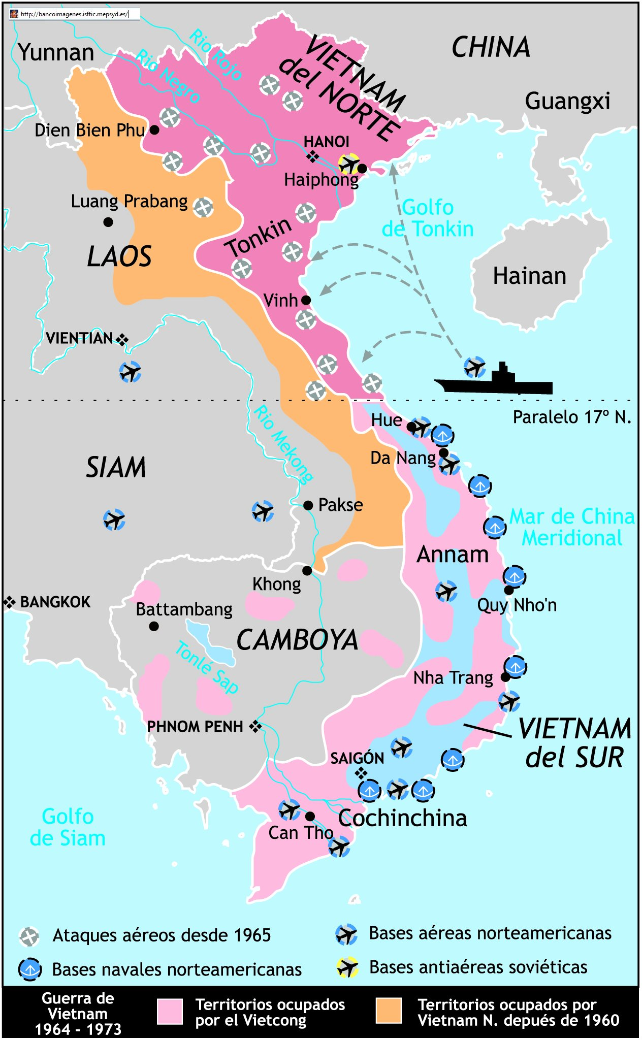 Guerra De Vietnam Mapa.Resumen La Guerra De Vietnam 1959 1975 Historia Belica