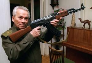 El inventor con su fusil