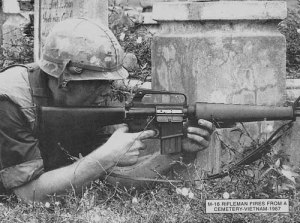 Soldado USA M16 Vietnam