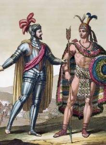 Encuentro entre Hernán Cortés y Moctezuma II