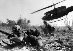 Los helicópteros tendrán un gran papel durante todo el conflicto.