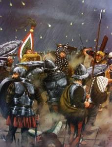 Soldados españoles durante la Noche Triste