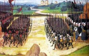 Cuadro que representa la batalla de Azincourt