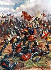 Enrique V luchando