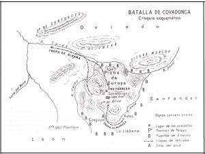 Mapa Batalla Covadonga