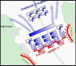 Mapa de batalla Azincourt