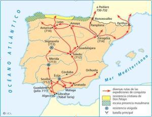 Mapa España siglo VIII
