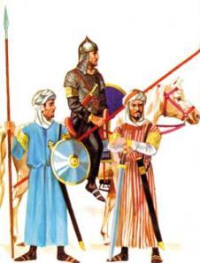 Soldados árabes del siglo VIII