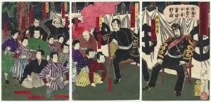 Los últimos samuráis se rinden a las tropas del gobierno.