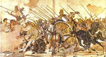 Batalla de Issos. Relieve procedente de Pompeya