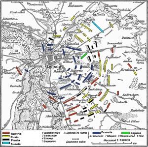 Visión más amplia del campo de batalla de Leipzig.