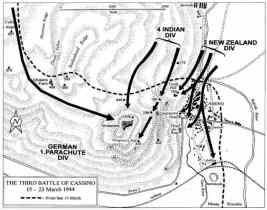 Mapa Montecassino