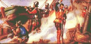 Miguel de Cervantes en Lepanto