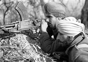 Tropas de las colonias británicas también participaron como de la India. Soldados indúes.