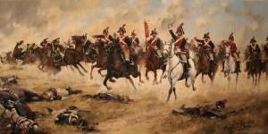 Carga de la caballería española.