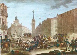 Lucha en las calles de Madrid el día 2 de mayo de 1808.