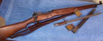 Fusil M1917 al completo. Se produjeron más de 2.000.000 de unidades.