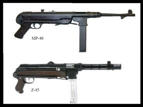 Parecido entre el MP-40 alemán y el STAR Z-45 español.