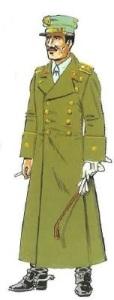 (2) Comandante en Uniforme de Paseo para Diario con Capote. 1943-55