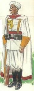 (3) Soldado moro con uniforme de gala. 1937