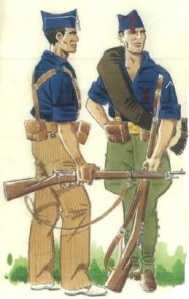 (1) Milicias falangistas en 1936.