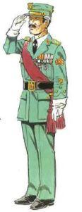 (1) Capitán cen Uniforme de Gala fuera de Formación.