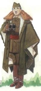 (1) General Franco. Capote-Manta