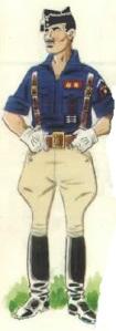 (2) Jefe de Centuria (Teniente) en uniforme de parada.