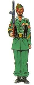 (3) Sargento veterano de 4 guerras. 1943-52