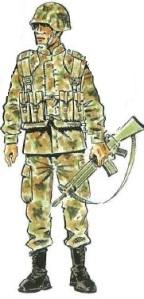(3) Legionario con Equipo de Campaña Completo.