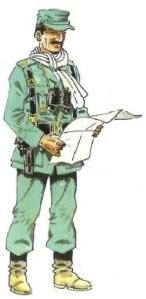 (1) Oficial en Uniforme de Campaña. 1958-60