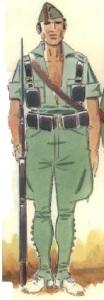 (1) Legionario en uniforme de campaña en verano. 1936-37