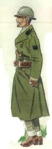 """(2) Teniente de Infantería de la Divisioón """"Fiamme Nere"""" en uniforme de invierno. 1937"""