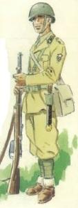 (3) Voluntario de la División > en uniforme de verano.