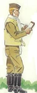 (1) Teniente aviador en uniforme de vuelo.