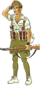 (1) Legionario en Uniforme de Campaña en Verano. 1936-38