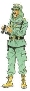 (4) Comandante en Uniforme de Campaña y Maniobras.