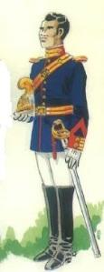 (3) Cabo en uniforme de Media Gala.
