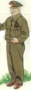 (2) General en uniforme de diario.