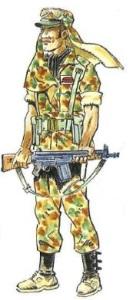 (5) Legionario en Uniforme de Campaña. 1975