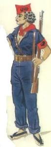 (3) Miliciana comunista. 1936